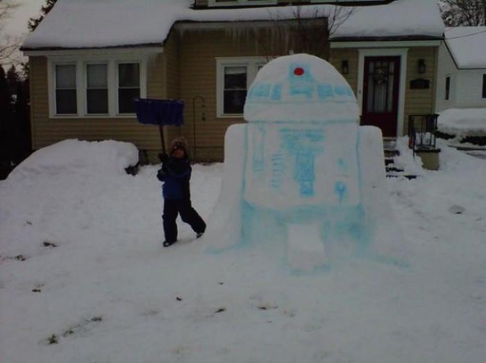R2D2 Snowman